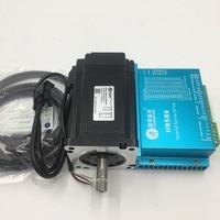 Nema34 8Nm Hybrid Servo DSP Closed Loop 2phase Stepper Motor Driver 20 50VDC CNC Kit 86HSM85 E1+HBS86