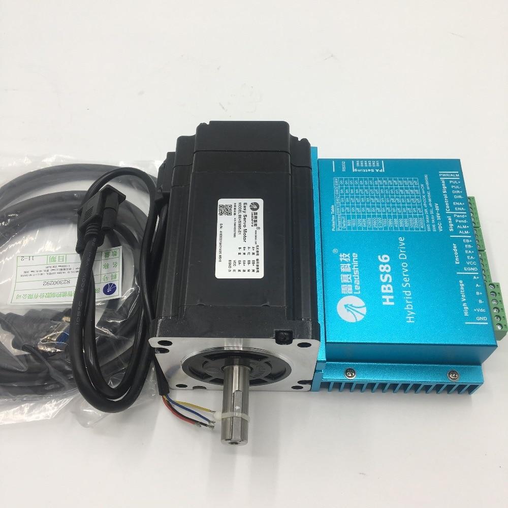 Nema34 8Nm Hybrid Servo DSP a Circuito Chiuso 2 fase Driver Del Motore Passo-passo 20-50VDC CNC Kit 86HSM85-E1 + HBS86
