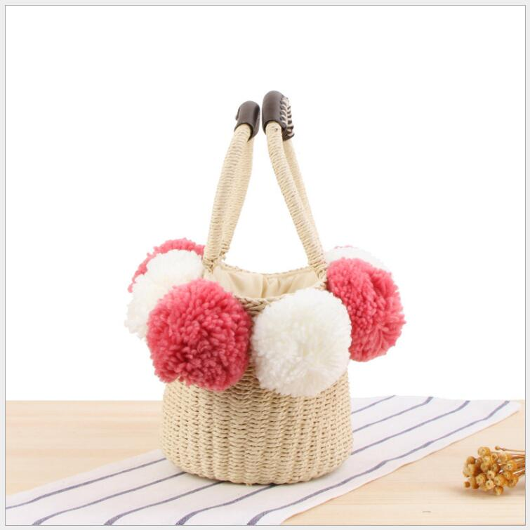 HTB1I BWaizxK1RjSspjq6AS.pXaP - Women Handbag Female Big Travel Vacation Totes Bamboo Handbag For Ladies Handmade Woven Straw Beach Bag Summer Women's Purse