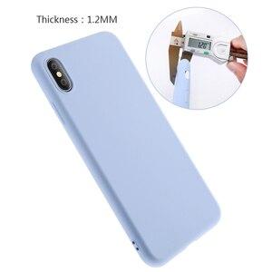 Image 5 - Solide Silikon Telefon Fall Für iPhone XR X XS Max 6 6S 7 8 Plus ich S iPhone7 iPhoneXR iPhone7 iPhoneX XsMax 7Plus 8 Plus Weiche Abdeckung