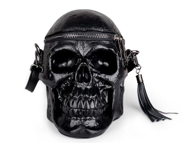 Designer Satchel Package Skull Bags Shoulder Bags Men Scary Black Waist  Bag Women Messenger Bags  Mystic Messenger