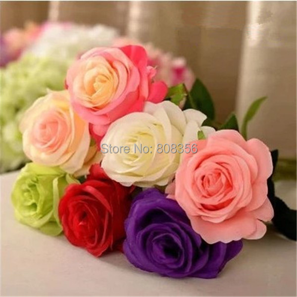 Artificial Rose 60cm 18Pcs Silk Flowers Single Stem Open Rose Flower for Wedding Party Home Floral Decorations