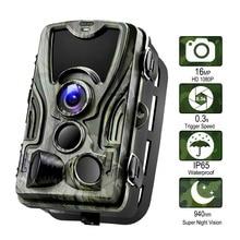 Eyoyo охоты Камера 16MP Trail Камера Ночь Версия лес Ip65 дикой природы Камера наблюдения 850nm Камера Chasse Scouts HC801A