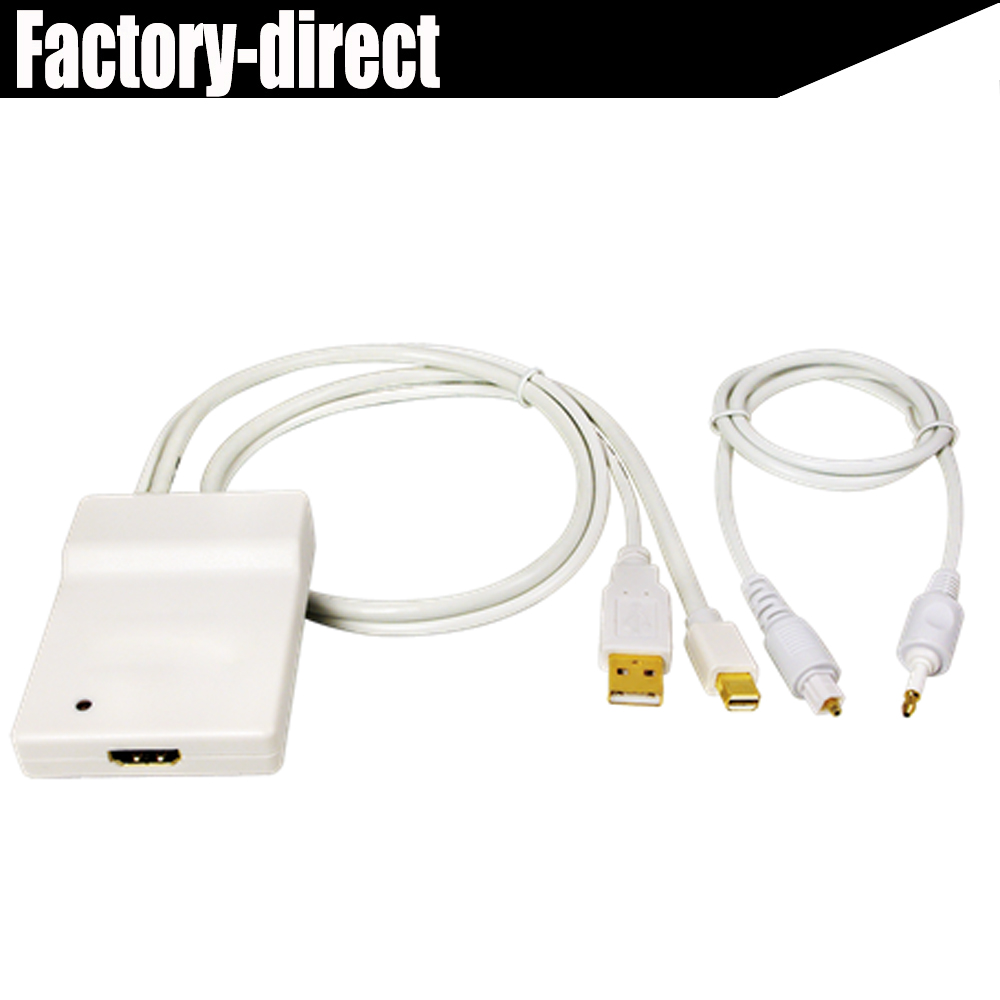 mini DisplayPort mini DP+USB+Toslink Optical Audio to HDMI Adapter ...