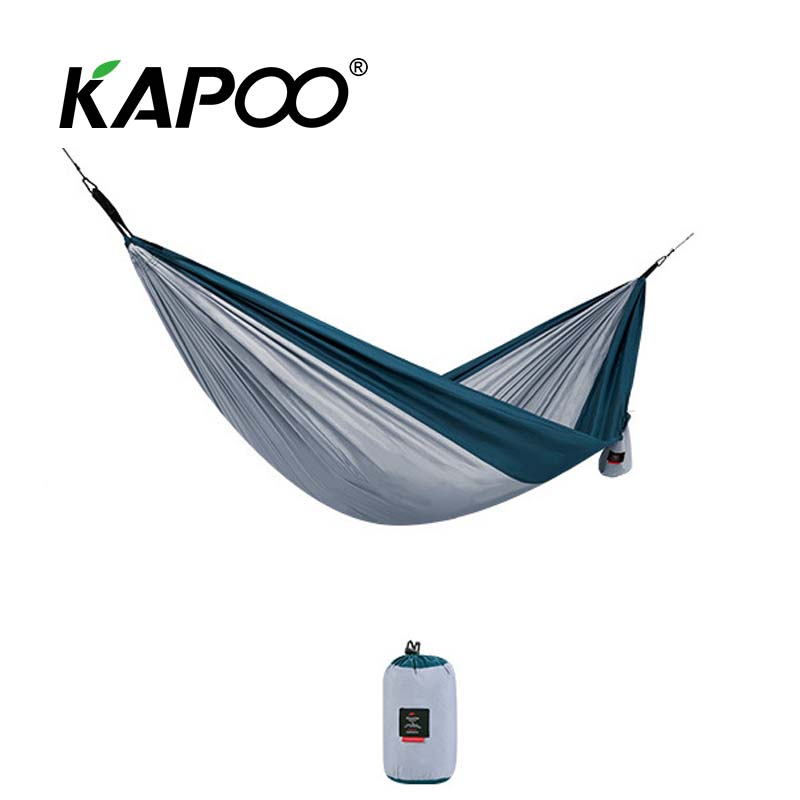 Outdoor Leisure Hammock Portable Single Double Hammock Outdoor Furniture Swing Chair Camping Hammock Picnic Mat Soft Folding Bed blue leisure outdoor hammock portable parachute hammock outdoor furniture single double hammock picnic mat camping hammock
