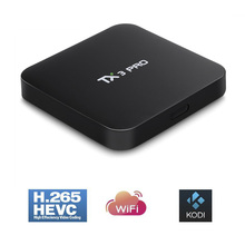 TX3 PRO TV BOX Android 6.0 Amlogic S905X Quad Core Set-top Boxes RAM 1G 8G Android TV Box HDMI H.265 2.4G WIFI Media Player