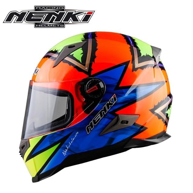 Newest Racing Motorcycle Full Face Helmet Bike Gafas Verspa Casco Capacete Nenki 863-S