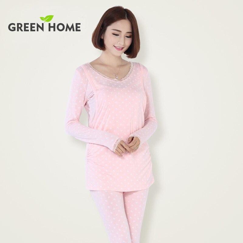 Green Home maternity sets cellulose fiber soft sleepwear ...
