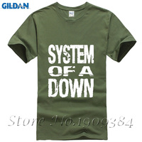 Youth Cotton SYSTEM OF A DOWN Logo Shirt And Tshirt Popular Short Sleeve T Shirt Man