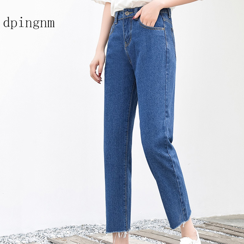 Basic Denim Jeans Classic 4 Season Women High Waist Jeans Vintage Mom Style Pencil Jeans High Quality Cowboy Denim Pants
