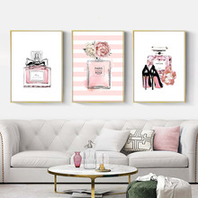 Abstract Painting Poster Perfume Art Print Canvas Pink Picture Fashion Posters And Prints Living Room Unframed