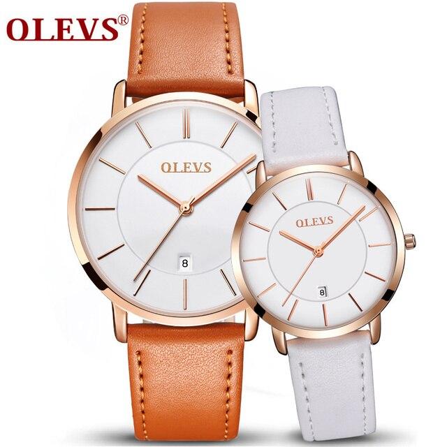 360414d5d51 OLEVS Marca Relógios dos homens Calendário Casuais Relógio Feminino de Quartzo  Simples Display Automático Masculino Relógio