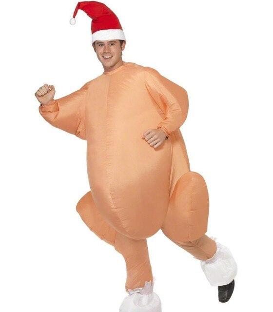 Déguisement de dinde rôti gonflable Halloween poulet pour adultes déguisement de noël gonflable mascotte Cosplay déguisement vêtements