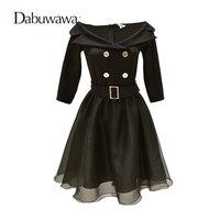 Dabuwawa Autumn Half Sleeve Sexy Little Black Dress For Formal Party Off Shoulder Dress Women Vintage