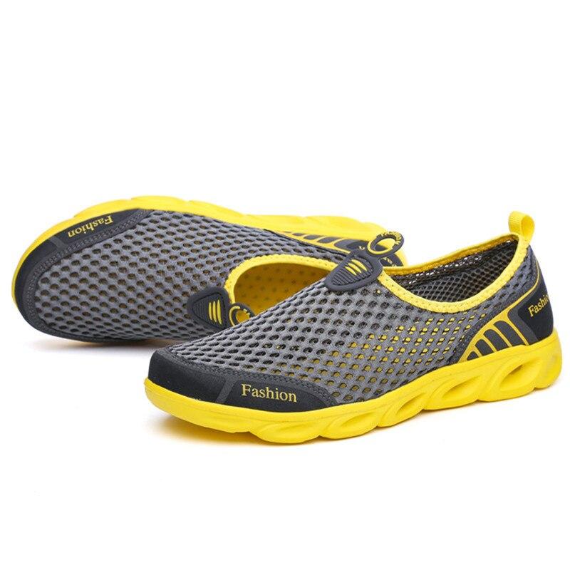 39 45 Hombres Blue dark Blue Malla Transpirable gray Cómodo Verano Zapatos De En Deslizamiento Casual RRrqcpwdax