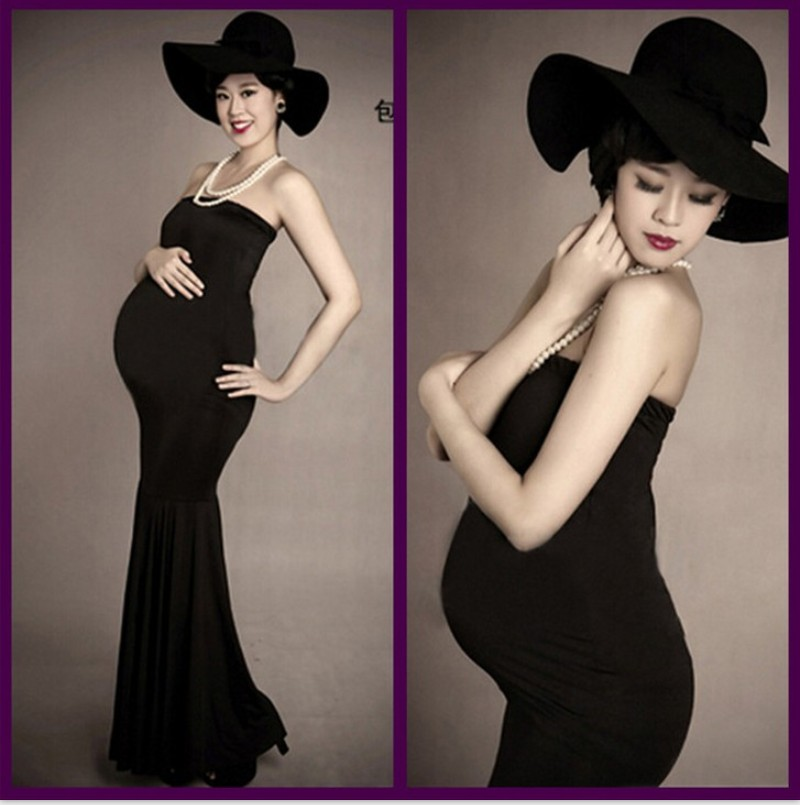 Hot Sale New Maternity Photography Props Clothes Pregnancy Gown Set ...