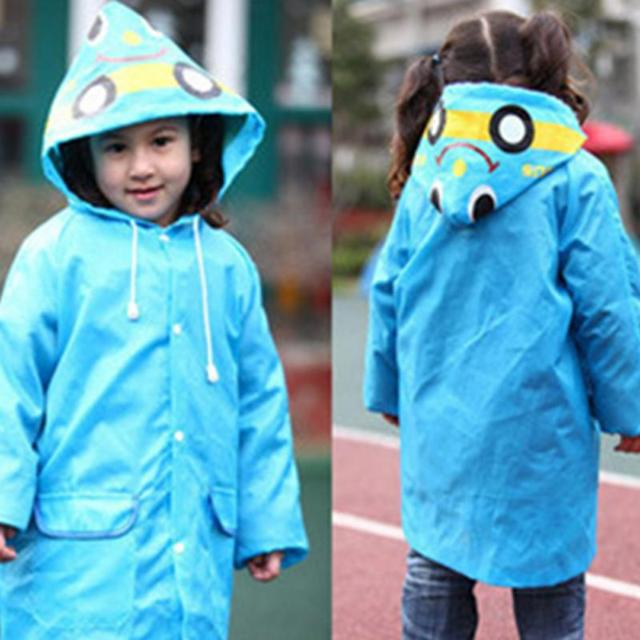 72eee464d Super Cute Kids Raincoat Cartoon Candy Color Polyester Children Rain ...