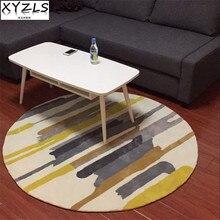 XYZLS современный стиль геометрические и полосатые круглые ковры Противоскользящие коврики Экологичные коврики для гостиной спальни