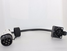 Duosida  32A sae j1772 socket type 1 to type 2 ev adapter Electric Vehicle Charging cable TUV CE
