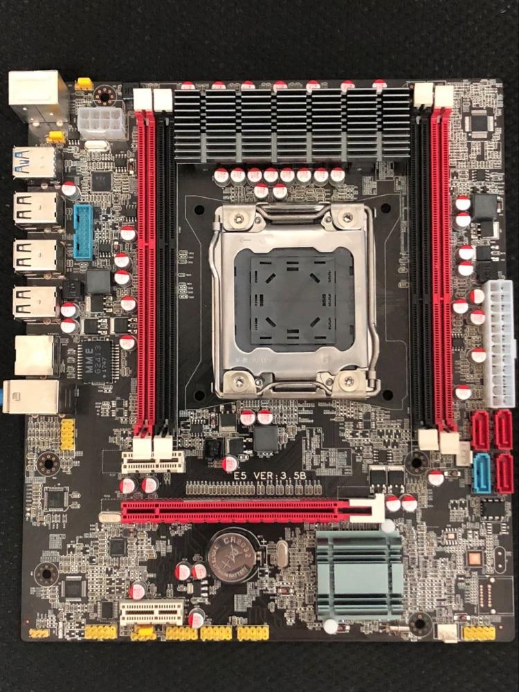 100% OEM New X79 E5 3.5B Desktop Motherboard X79 LGA 2011 For I7 E5-V1 E5-V2 DDR3/ECC 64G SATA3 USB3.0 All-Solid ATX On Sale