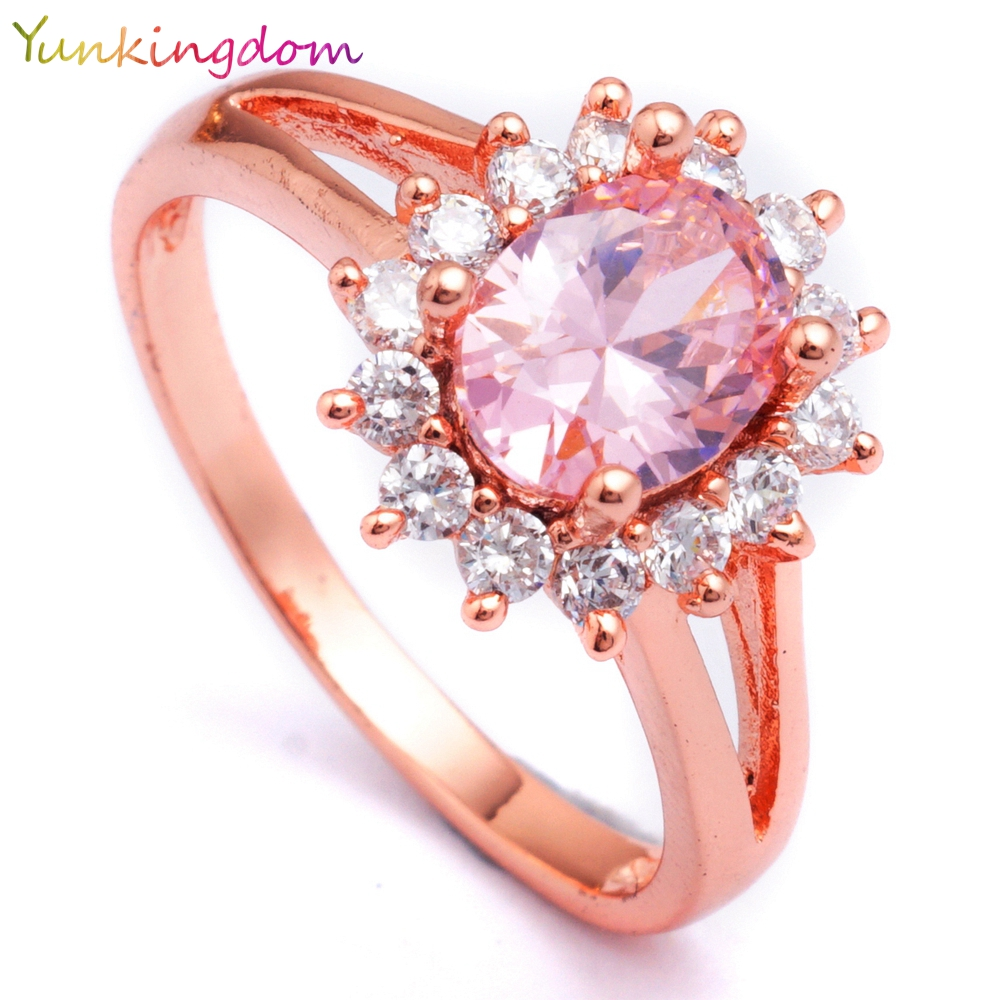 Yunkingdom Bride\'s Wedding Rings for women cubic zirconia jewelry ...