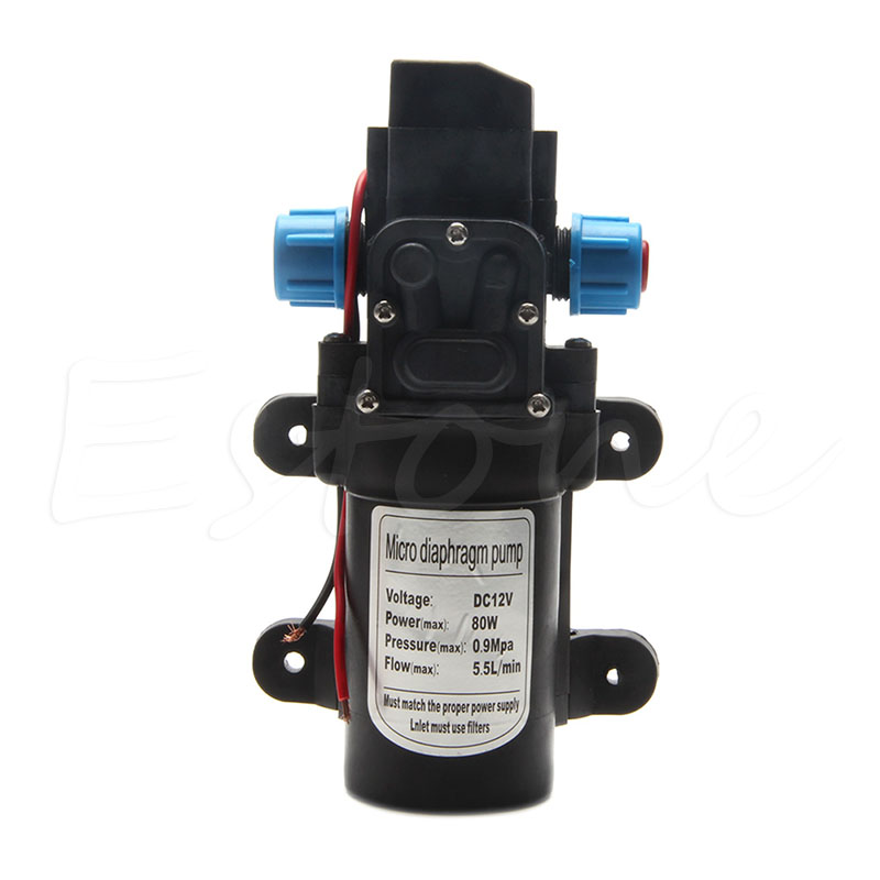 DC 80W 12V 0142 Motor High Pressure Diaphragm Water Self Priming Pump 5.5L/Min Hot dc 12v 80w high pressure diaphragm water pump electric water pump for boat caravan marine motor water pumps