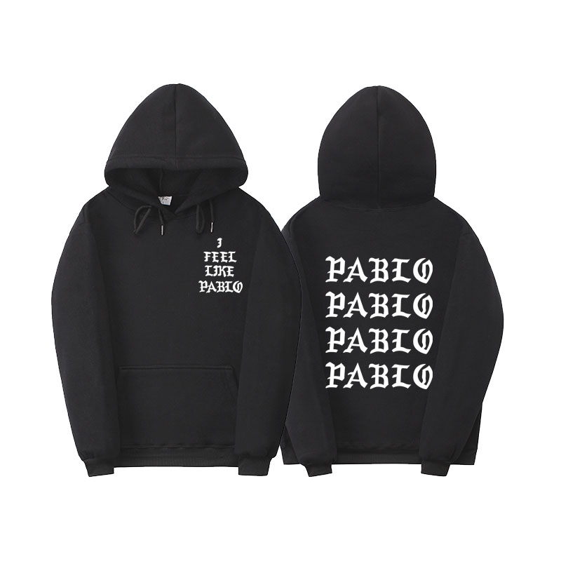Miedo de DIOS Paul vida Kanye West Pablo HOODIE hombres mujeres hip hop sudaderas pull París siento como paul Pablo HOODIE