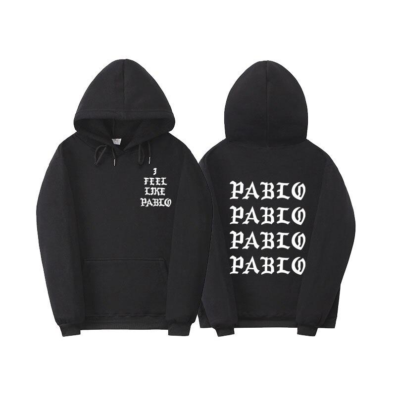 Paura Di Dio Paul'S Vita Kanye West Pablo Con Cappuccio Uomo Donna Hip Hop Felpe Tuta Tirare Parigi Mi Sento Come Paul Pablo felpa con cappuccio