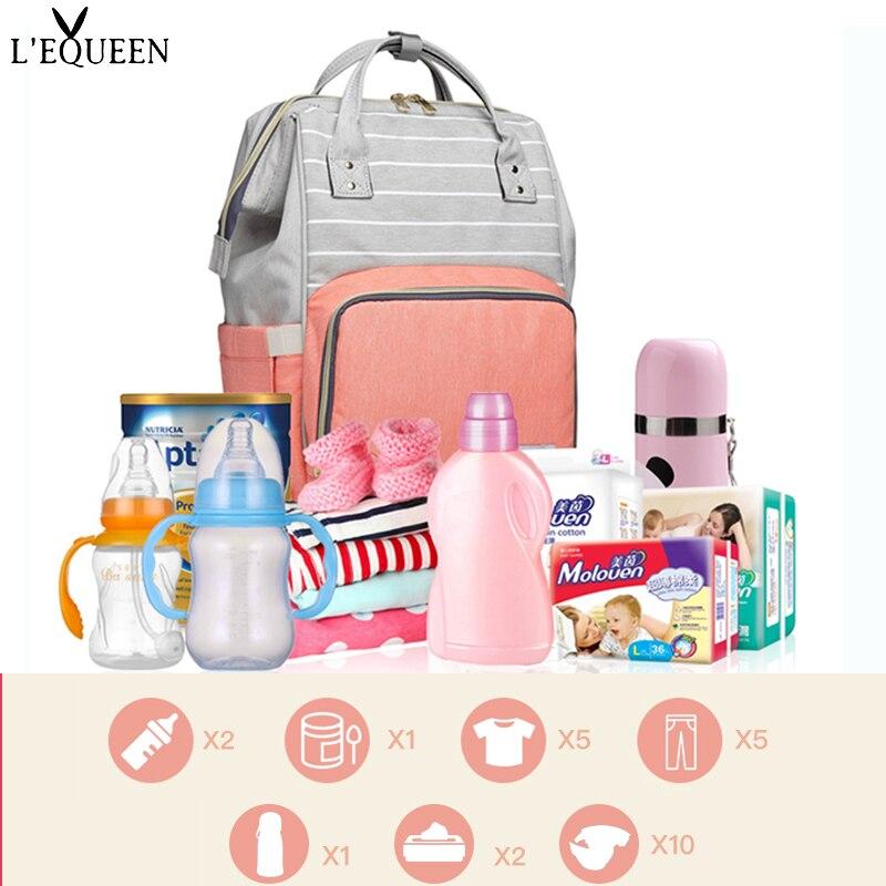 LEQUEEN-sac à couches de grande capacité | Sac pratique soins pour bébé maman, sac pour bébé maternité, sac multifonctionnel, sac à dos d'allaitement