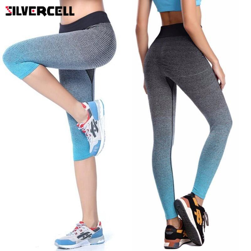 2017 Women Leggings Summer Capri Pants Fitness Clothes Elastic Capris Leggings Bodybuilding