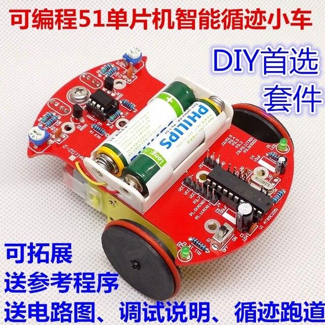 51 mcu barrowload inteligente robot car kit diy