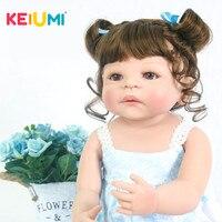 Lifelike 23 Inch Princess Twins Reborn Babies Girl Dolls For kids Playmates 57 cm KEIUMI Newborn Baby Doll 2019 Birthday Gifts