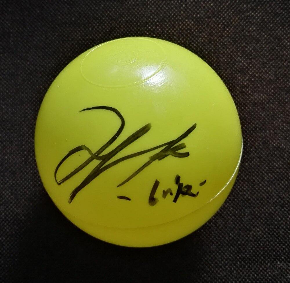 Signée à la main NCT RÊVE HAECHAN autographiée concert balle K-POP 122018