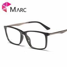 MARC Men 2019 New TR90 Frame Eyewear Matte Fashion Male Resin Clear lens Glasses Trend Metal Square Eyeglasses G8010 1