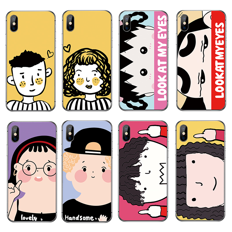 For Funda iPhone X Case 5 5S 6 6S 7 8 Plus X XS Max XR Cute Animals for Cover iPhone 7 Case Soft TPU for Capa iPhone 6 Case in Fitted Cases from Cellphones Telecommunications