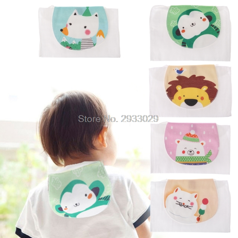 Baby Towel Absorb Sweat Back Summer Reusable Wipe Cute Animal Soft Perspiration J26 Drop shipping