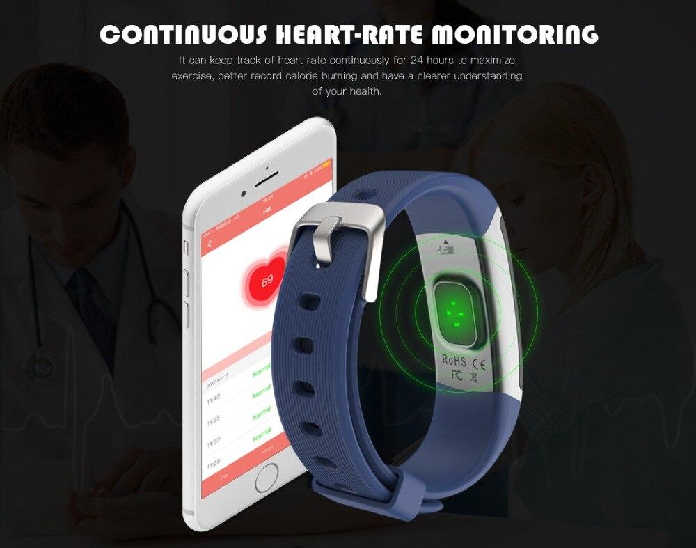 cardíaca tela colorida das mulheres dos homens smartwatch correndo novo