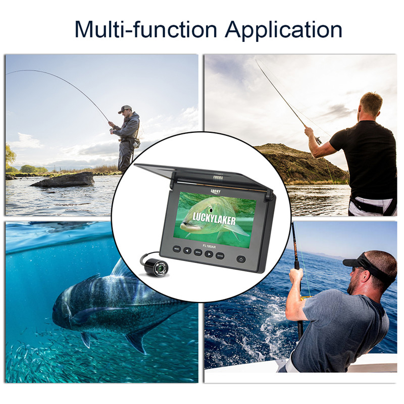 """Image 5 - LUCKY Original Underwater Fishing Camera 4.3"""" LCD Monitor 8GB DVR 4pcs Infrared Led Russian Fish Finder Fishing for Ice Fishing-in Fish Finders from Sports & Entertainment"""