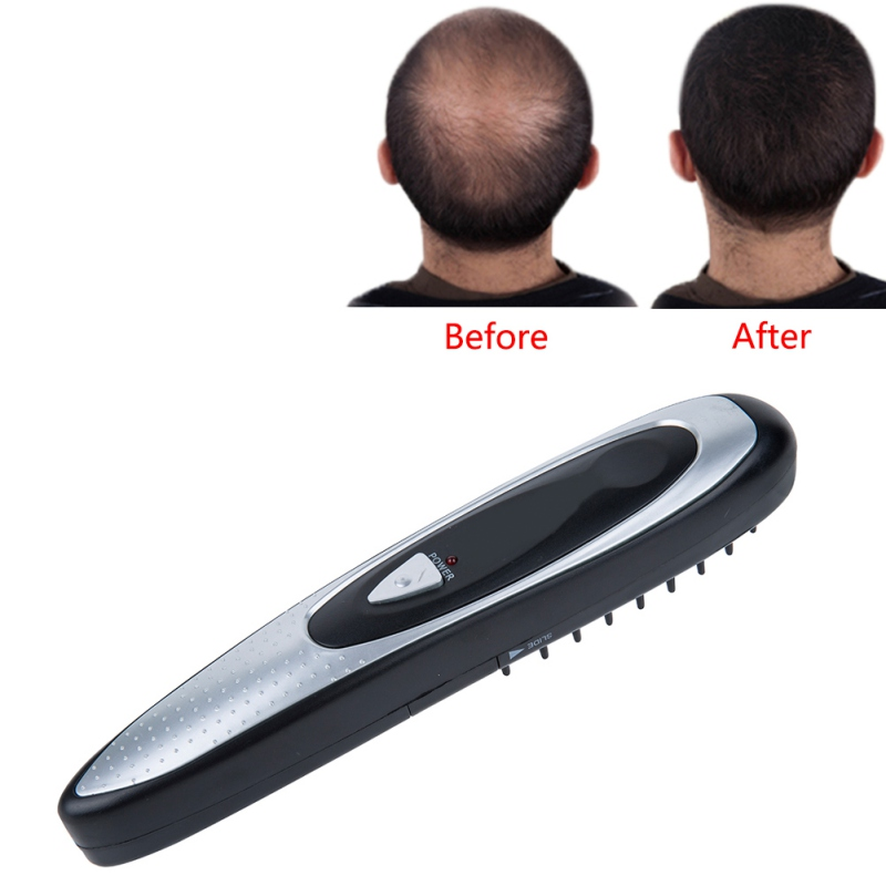 Electric Laser Hair Growth Comb Hair Brush Grow Laser Hair Loss Therapy Comb Regrowth Device Machine Infrared Massager laser hair growth comb 6 color led light micro current for hair massage remove scurf n repair hair hair loss