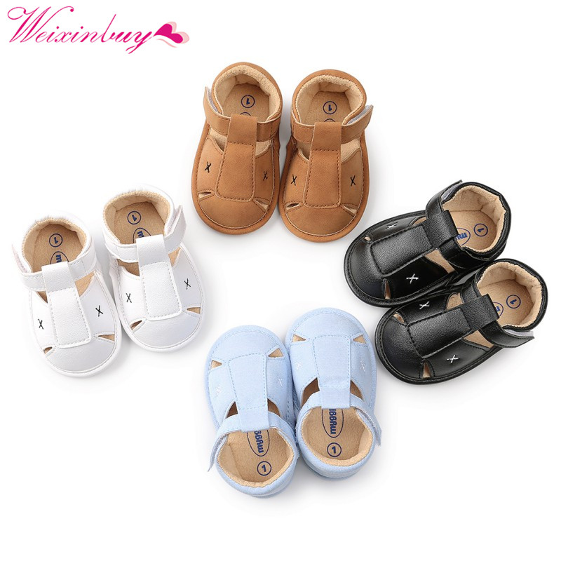 Baby Shoes Newborn Baby Girls Sandals Summer Newborn Baby Boys Sandals Casual Breathable Hollow Breathable Baby Sandals