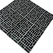 2019 New Trend 10 PCs/pack Vinyl Self-adhesive 3D Black Mosaic Wall Kitchen Bathroom Backsplash Waterproof and Removable Tile
