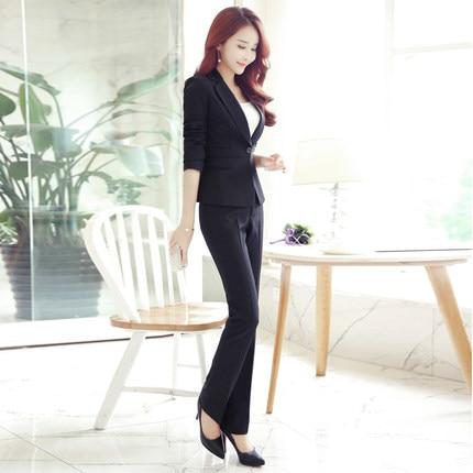 Di Delle Donne Nero Vestito Nuovo Professionale Coreano A pezzo Ol Giacca Del Tuta Primavera Jq148 Versione E Due Autunno Ufficio Il twvxEpq