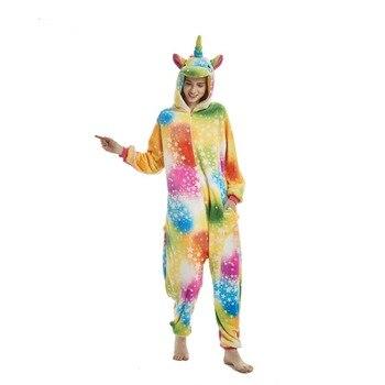 c1d6c2f62f Franela Animal adulto pijama unicornio pijamas para mujeres Unisex Homewear  Panda gato Pikachu suave cómodo ropa