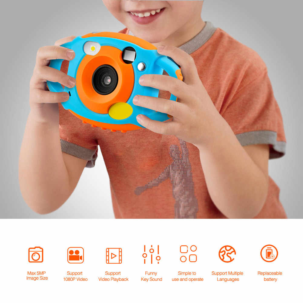 High Quality Mini Kids Digital Camera Shockproof HD Screen Display Portable Gift for Children