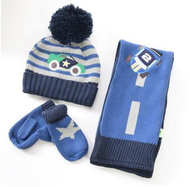 3 pcs Baby cashmere skin soft scarf + hat + gloves three-piece kid's scarf with box scarf marni scarf