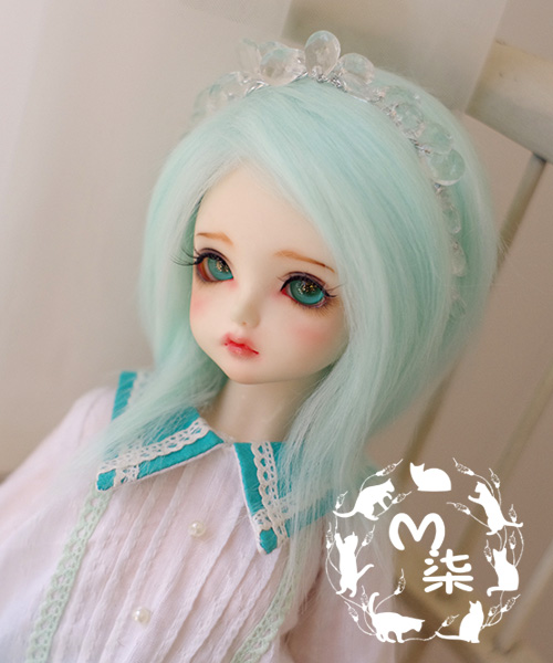 New 1/3 22-23cm 20-21cm 1/4 18-19cm 1/6 16-17cm weet Water Blue Color Medium Long Straight Wig BJD Doll Wig new 1 3 22 23cm 1 4 18 18 5cm bjd sd dod luts dollfie doll orange black short handsome wig