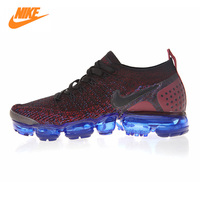 Original Nike New Air Vapormax Flyknit Women's Running Shoes Dark Red Sneakers Non slip Shock Sports Shoes 942843