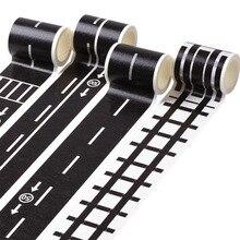 El tren camino pegatina de cinta Washi amplia creativo de tráfico adhesivo cinta adhesiva camino para niños coche de juguete juego