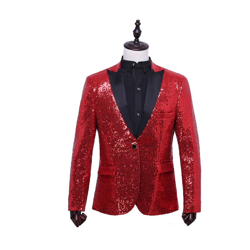 Blazer Suit Nqx8fx8t4w For Giacca Gold Sequin Elegante Jacket Uomo Men TnZqaROxW