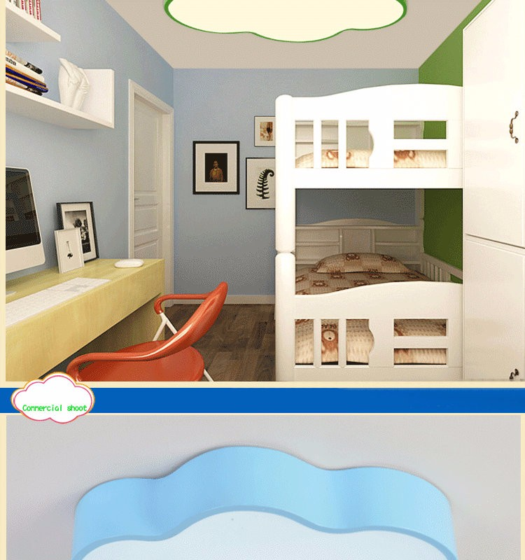 LED Cloud kids room lighting children ceiling lamp Baby ceiling light with yellow blue red white color for boys girls bedroom fixtures_05